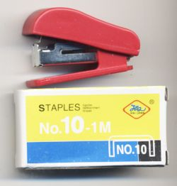Мини-степлер со скобами