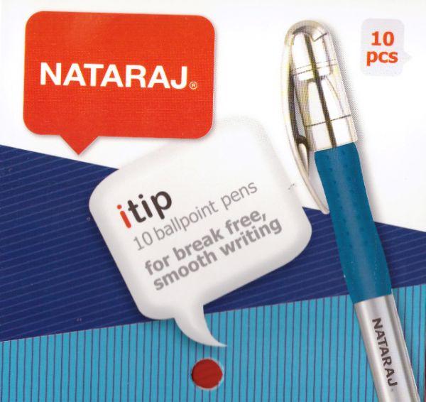 Ручка синяя Nataraj itip (10шт)