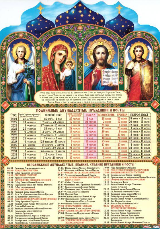 Календарь двунадесятые праздники