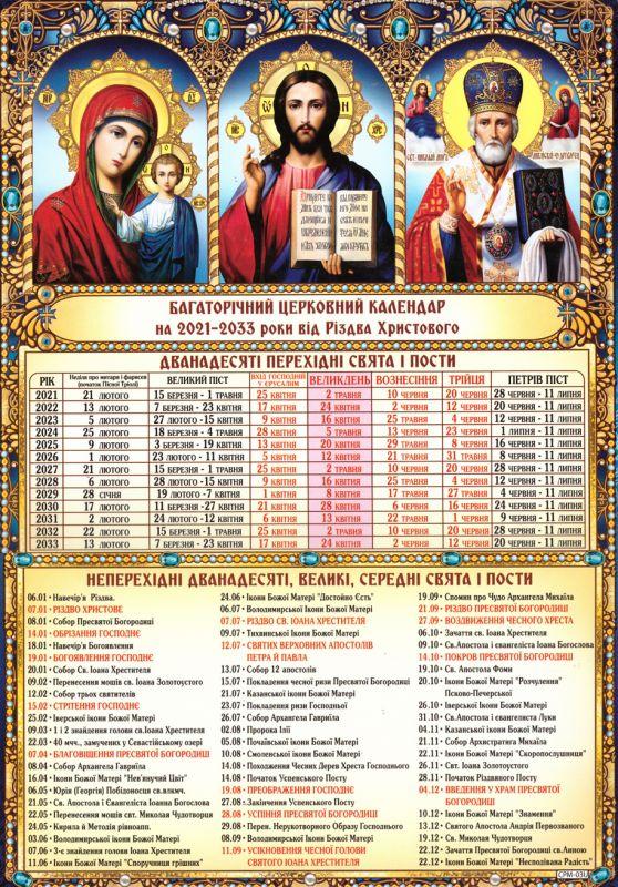 Календарь двунадесятые праздники (Укр)